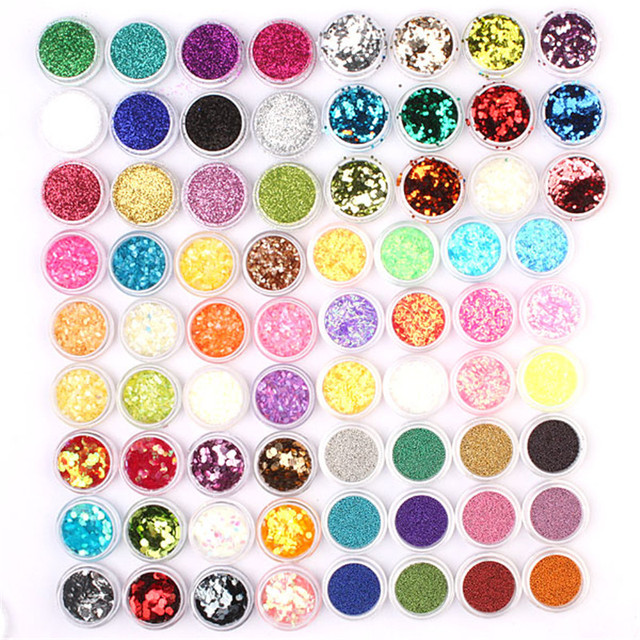 72pc Acrylic UV Gel Nail Art Glitter Powder Wholesale # 306