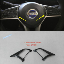 Lapetus Car Styling Steering Wheel Frame Cover Trim 2 Pcs ABS Fit For Nissan Rogue T32 / X-Trail 2014 2015 2016 2017 2018 2019 lapetus car steering wheel frame cover trim 2 pcs fit for hyundai kona 2018 2019 carbon fiber look