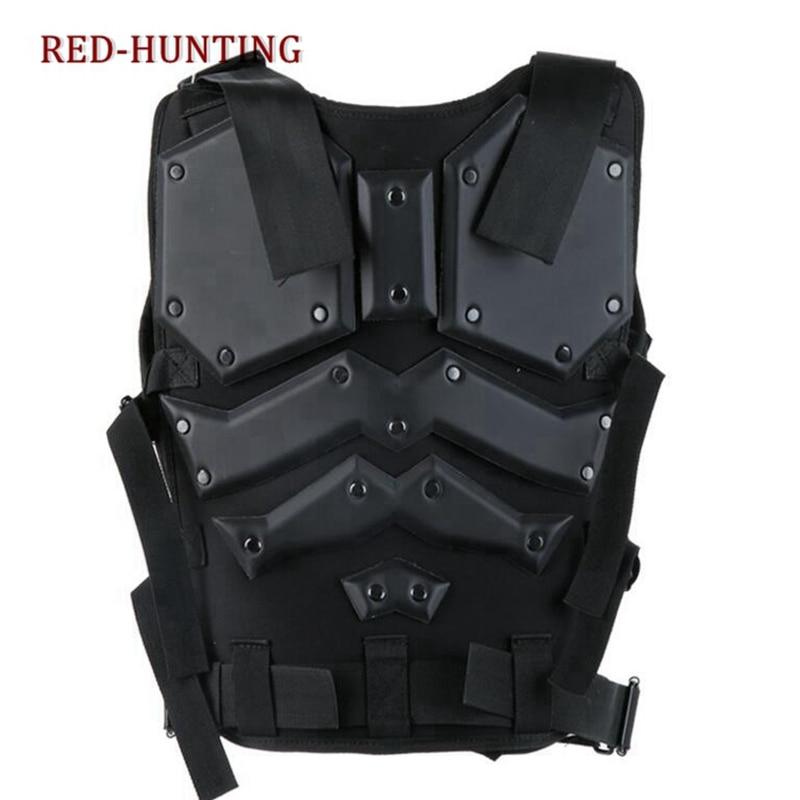 Molle Tactische Vest Combat TF3 Body Vest Protector Black Training Vest - 4