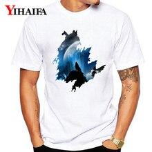 Summer 2019 T-Shirt Men Women Wolf 3D Print Galaxy Nightfall Graphic Tees Casual Unisex Tops White Tee Shirts худи print bar white wolf
