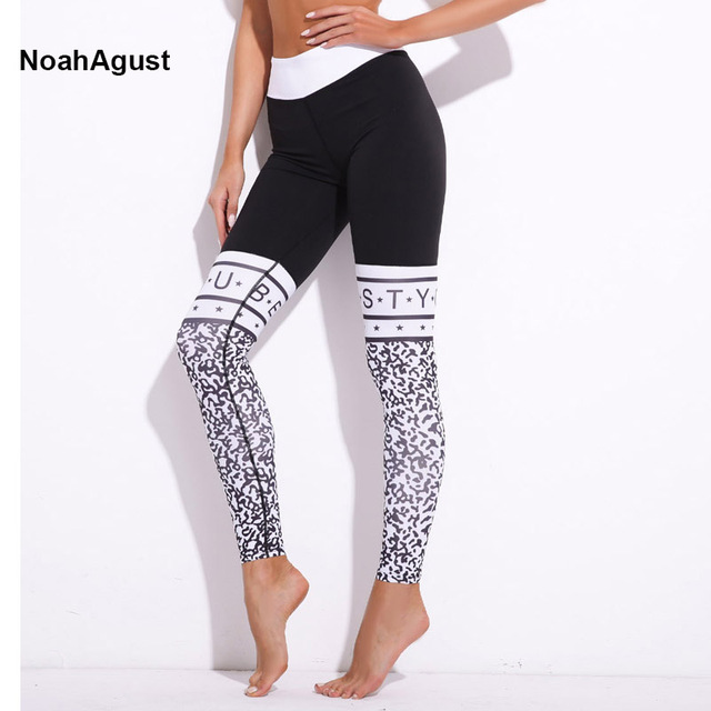 a8bcb71cee708 Seamless Yoga Leggings Leopard Letter Fitness Sexy Yoga Pants Women High  Waist Legging Sport Femme Yoga GYM Wear Running Tights
