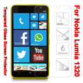 2.5D Arc Edge 9H Hard 0.3mm Tempered Glass film for Nokia Lumia 1320 High Transparent Mobile Phone Screen Protector