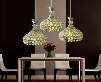 New Modern LED Crystal Wineglasses Wine Glass Light Pendant Lamp Chandelier Bar Lighting Restaurant Dining Room