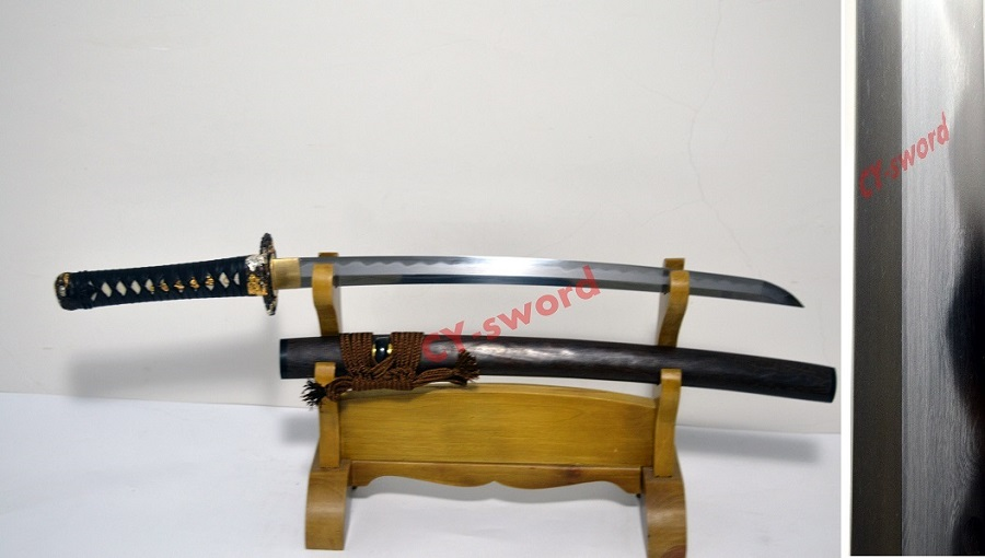 Clay Tempered Japanese Dragon Katana wakizashi T 10 Folded Blade sword Class Polished Real Yokote