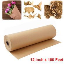Brown Kraft Paper Roll for Crafts, Art, Small Gift Wrapping wedding party home decoration Natural Recycled Perfect gift