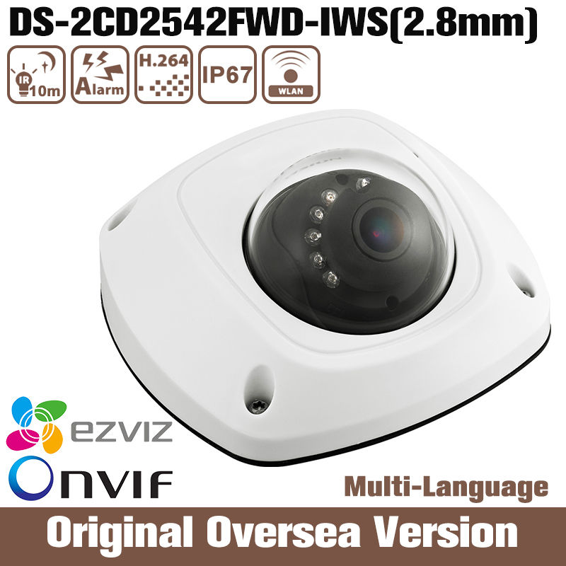 HIK Ds-2cd2542fwd-iws 2.8mm 4mp Wifi IP Camera Hikvision Cmos Fixed Dome Camera Ik08 1080p Infrared Support upgrade 2016 uk cd диск fleetwood mac rumours 2 cd