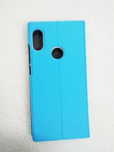 "Image 2 - Xiao mi rode Mi note 5 case global versie Note5 Flip cover pu case [originele oem] MI rood mi note 5 pro case protector Glas 5.99"""