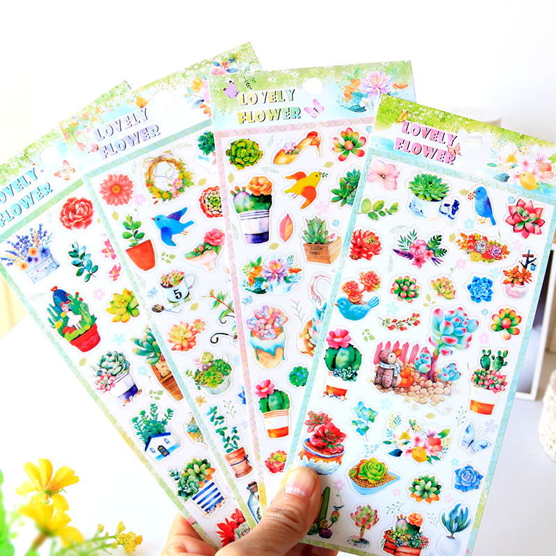 Colorful Succulent Plants Decorative Stickers Adhesive Stickers DIY Decoration Diary Stationery Stickers Children Gift alive for all the things are nice stickers adhesive stickers diy decoration stickers