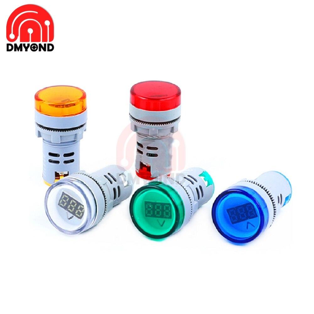 Цифровой вольтметр, светодиодный мини вольтметр 22 мм, AD16, светодиодный индикатор, светодиодный светильник, 22 мм, AD16 Измерители напряжения      АлиЭкспресс
