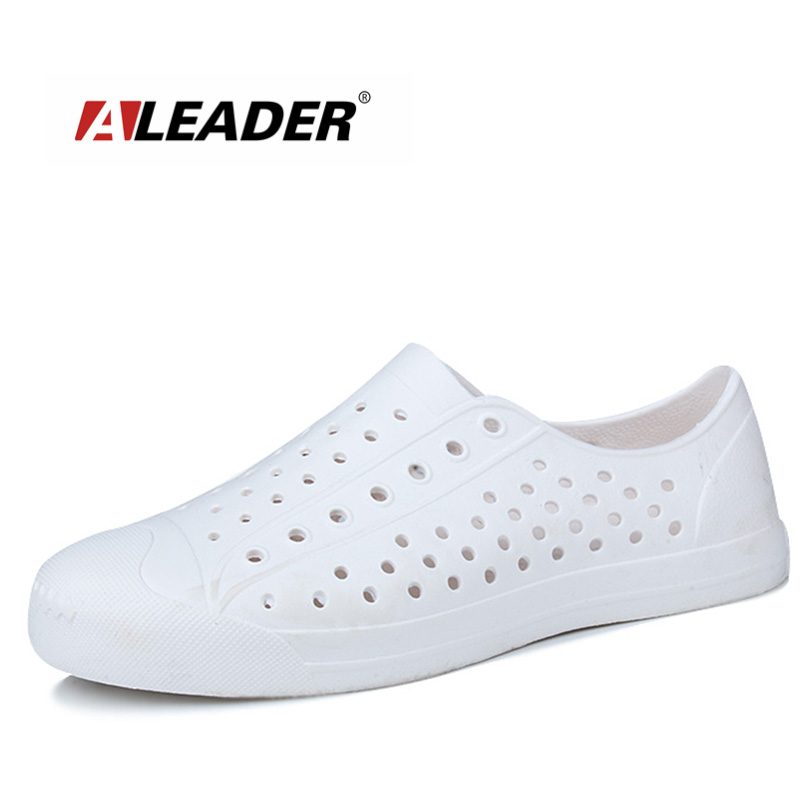 ALEADER Adult Summer Casual Flats Beach Men's Comfortable Sandals Nativ Brand Sneakers Breathable House Garden Clogs Work Shoes