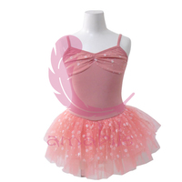 Ballet Dance Gymnastics bowtie collar strap shoulder Leotard dress children leotard dress CL0217