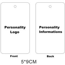 Clothing Customized Garment-Tags Logo Print Personality Paper 500pcs 5x9cm/4x5cm