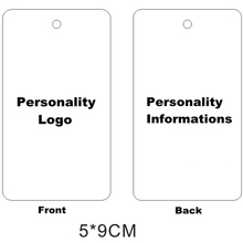500pcs 5x9cm / 4x5cm נייר תגי בגדים מותאמים אישית לתלות תג בגד תגיות תכשיטים תגי הדפסת אישיות לוגו
