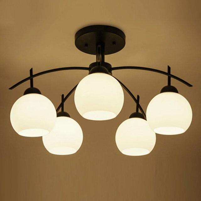 Modern Simple American Led Chandelier Lighting For Living Room Iron Energy Saving Bulbs 110v 220v