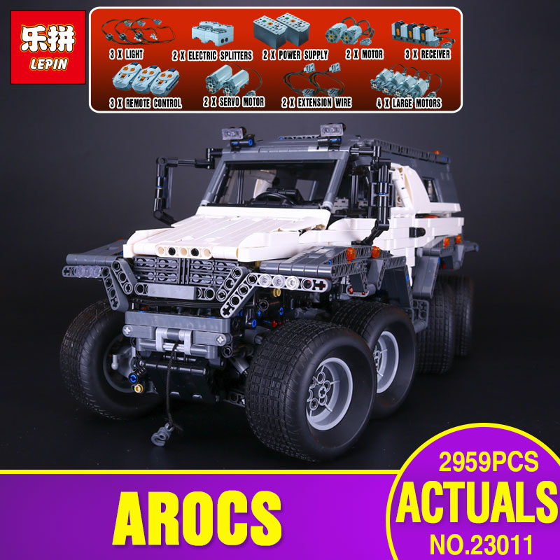 New LEPIN 23011 2959Pcs Technic Series Off-road vehicle Model Educational Toys Building Kits Block Bricks Compatible With 5360 enlightment 1120 city series recreation vehicle minifigure building block 380pcs bricks toys best toys compatible with legoe