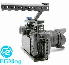 Bgning gaiola câmera caso de proteção montagem com alça superior para panasonic lumix gh5/gh5s câmera photo studio kit