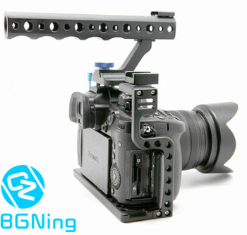 Klatka operatorska uchwyt ochronny do obudowy z górnym uchwyt rękojeści do aparatu Panasonic Lumix GH5 GH5s zestaw do studia fotograficznego tanie i dobre opinie Ze stopu aluminium ze stopu aluminium Lustrzanek cyfrowych BGNing