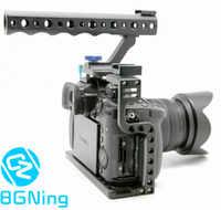 Macchina fotografica Gabbia di Protezione della Cassa Del Supporto con la Parte Superiore della Maniglia Grip per Panasonic Lumix Dmc-GH5/GH5s Macchina Fotografica Photo Studio Kit