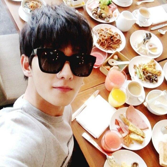 2016 V coreano marca gafas de sol retro personalidad minimalista ...