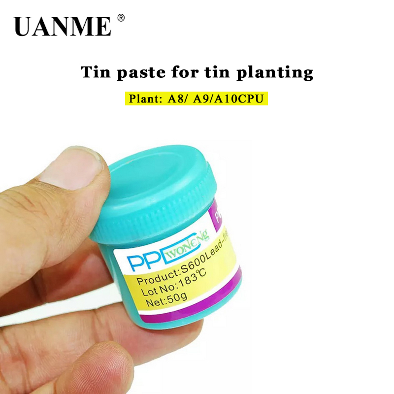 UANME PPD Best Melting Point 138 / 183 Degrees Lead-free Low Temperature Solder Paste For A8 A9 A10 A11 CHIP Special Tin Pulp