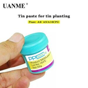 Image 1 - Uanme ppd melhor ponto de derretimento, 138 / 183 graus, sem chumbo, baixa temperatura, pasta de solda para a8 a9 a10 a11 chip de lata especial