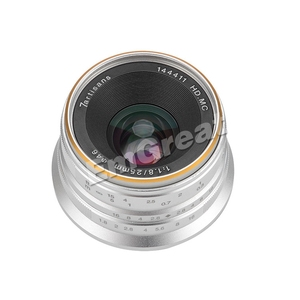 Image 2 - 7artisans 25mm F1.8 Prime Lens for Sony E Mount for Fujifilm & Micro 4/3 Cameras A7 A7II A7R G1 G2 G3 X A1 X A10 with Lens Hood