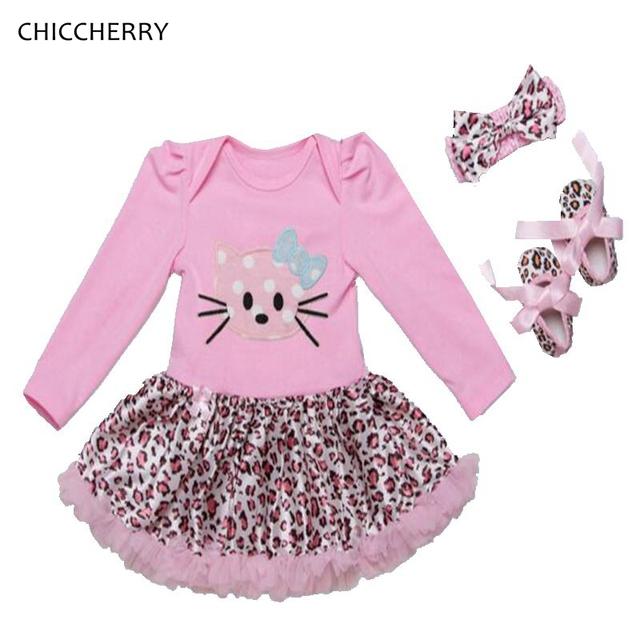 Hello kitty cumpleaños tutu dress con banda de sujeción zapatos bebé recién nacido de manga larga ropa de niña bebé ropa conjunto infantil menina