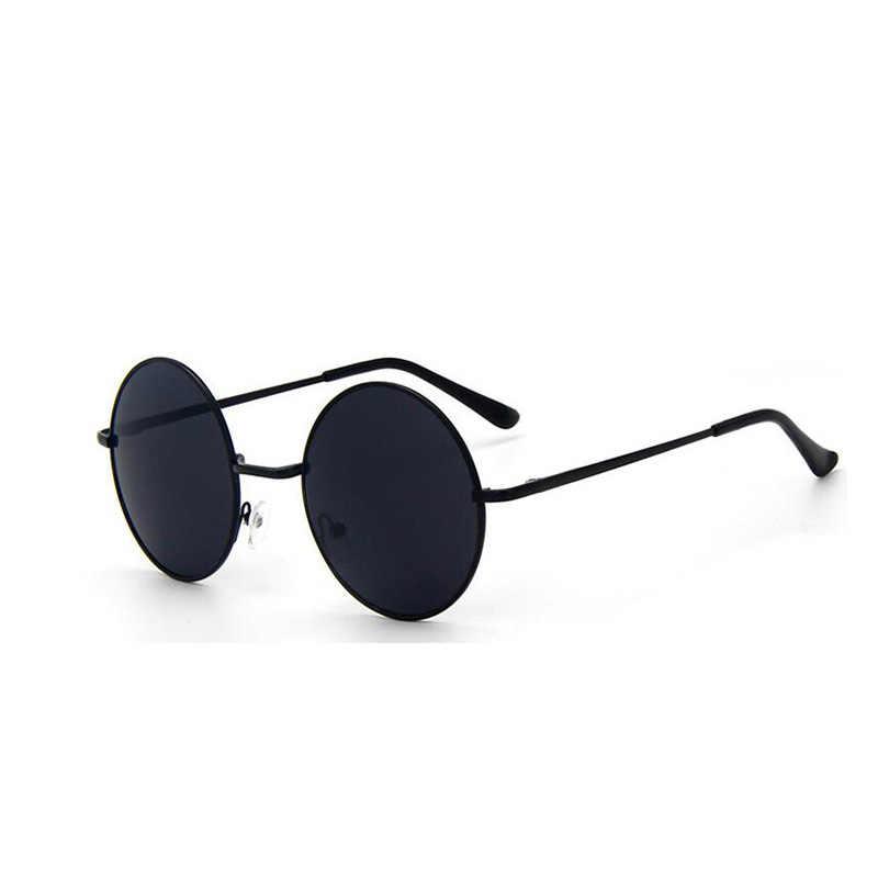 9d74995fa5 Retro Vintage Black Silver Gothic Steampunk Round Metal Sunglasses for Men  Women Mirrored Circle Sun Glasses