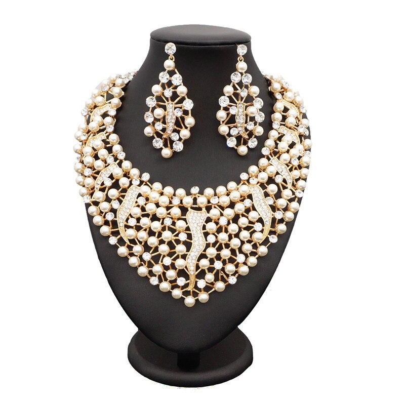 Sexemara womens costume jewelry jewelry enamel nigerian beads necklace jewelry set necklace and earrings bohemian beads necklace and earrings