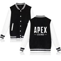 Apex legends jacket coat titanfall 남성 게임 로고 자켓 프린트 티 블랙 코튼 캐주얼 탑스 homme fahsion clothing