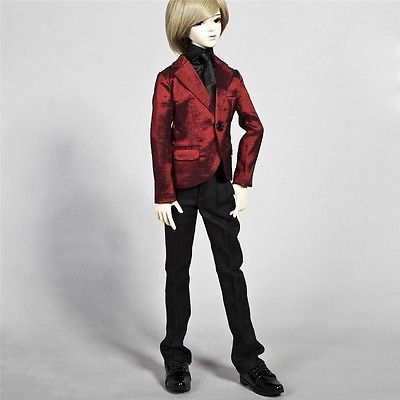 [wamami]507# Red Clothes/Suit/Outfit SD17 DZ 70 70cm AOD DOD DZ BJD Boy Dollfie [wamami] 649 england style coat suit outfit clothes for 1 3 sd dz dod boy bjd