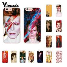Yinuoda David Bowie Art Zachte Transparante Telefoon Case Voor Iphone X Xs Max 6 6 S 7 7 Plus 8 8Plus 5 5S Se Xr Fundas Capa(China)