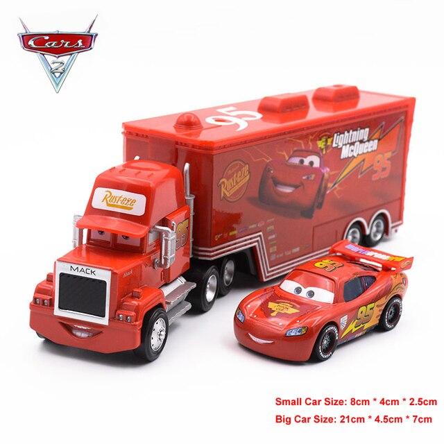 Us 4 95 30 Off Disney Pixar Cars Lightning Mcqueen Mack Truck Mater Diecast Metal Car Toy Birthday Christmas Toys Gift For Children Kids Boys In