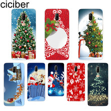 ciciber Christmas Deer Phone Case For Oneplus 7 Pro 6 5 T Soft TPU Back Cover Clear Coque for 1+7 Pro 1+ 6 1+5 T Fundas Shell