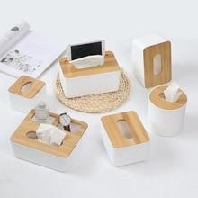 Home Kitchen Multifunction Wooden Tissue Box Solid Wood Napkin Holder  Paper Storage Accessories