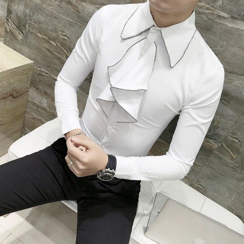 Konstruktiv 2019 Neue Britischen Stil Luxus Solide Hemd Mann Kleid Männer Shirts Chemise Homme Langarm Slim Fit Shirts Männer Camisa Masculina Duftendes Aroma