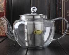 1PC 600ml Apple Shape Glass Teapot Elegant Cup Tea Set Flower Stainless Steel Filter JN 1016