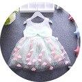 Envío gratis 2016 nuevo llegan floral moda de los niños niña princesa vestido de traje niños del verano del bebé del vestido ocasional para el partido