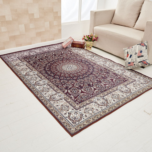 Europe style plant flowers carpet area rug for for Styles of carpet for home