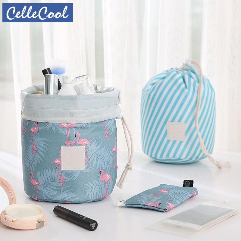Hot Sale Makeup Bag Round Waterproof Travel Cosmetic Bag Organizer Toiletry Makeup Bags For Women Ladies Box Neceser