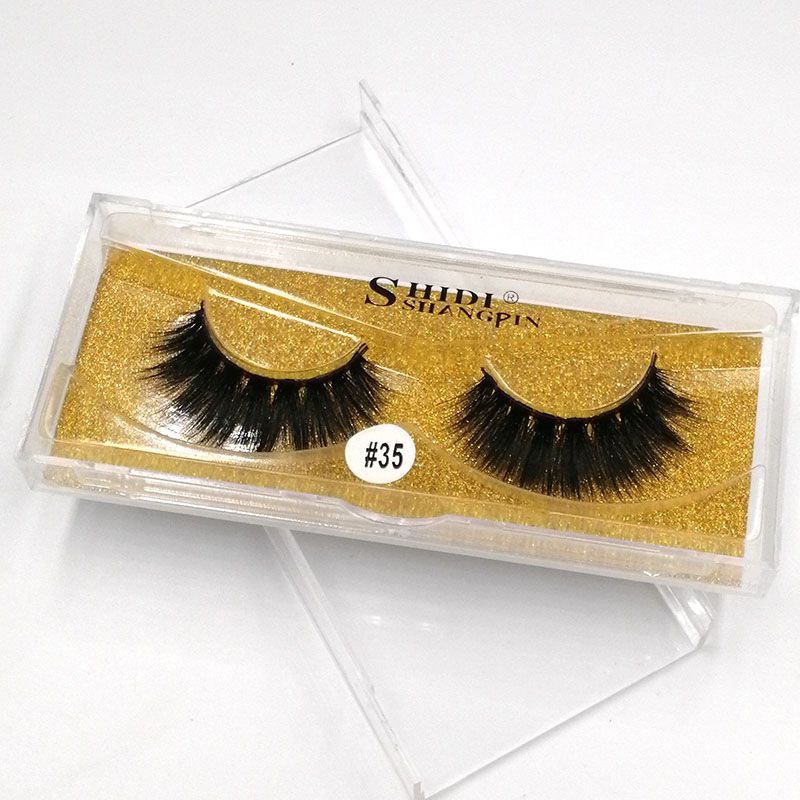 Mink Lashes 3D False Eyelashes Natural  Lightweight 1 pair Packaging