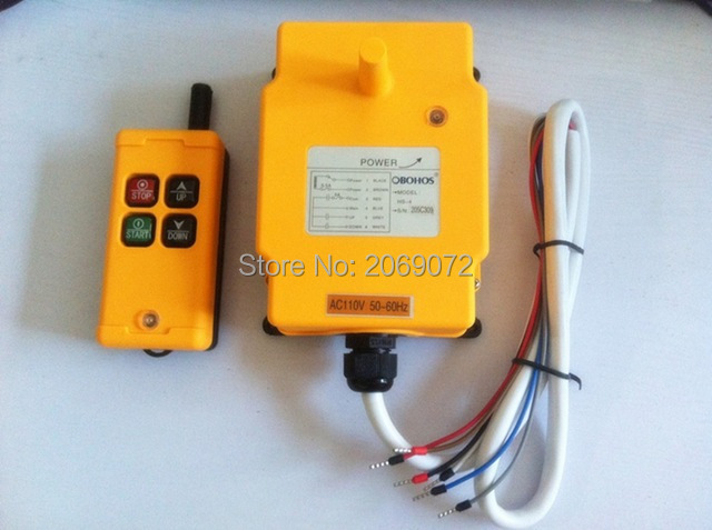 Industry 4 Channels AC220V Hoist Crane Radio Remote Control System HS 4