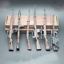 6 adet WW2 askeri 1/6 askerler aksiyon figürleri ölçekli silah modelleri almanya KAR 98K Mauser tüfek Guns aksesuarları 4D blok oyuncaklar
