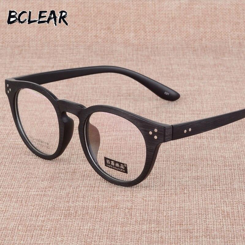 BCLEAR Fashion Full Rim Unisex TR90 Ultralight Myopia Frame Vintage Eyeglasses Frames Retro Round Men Women Spectacle Eyewear