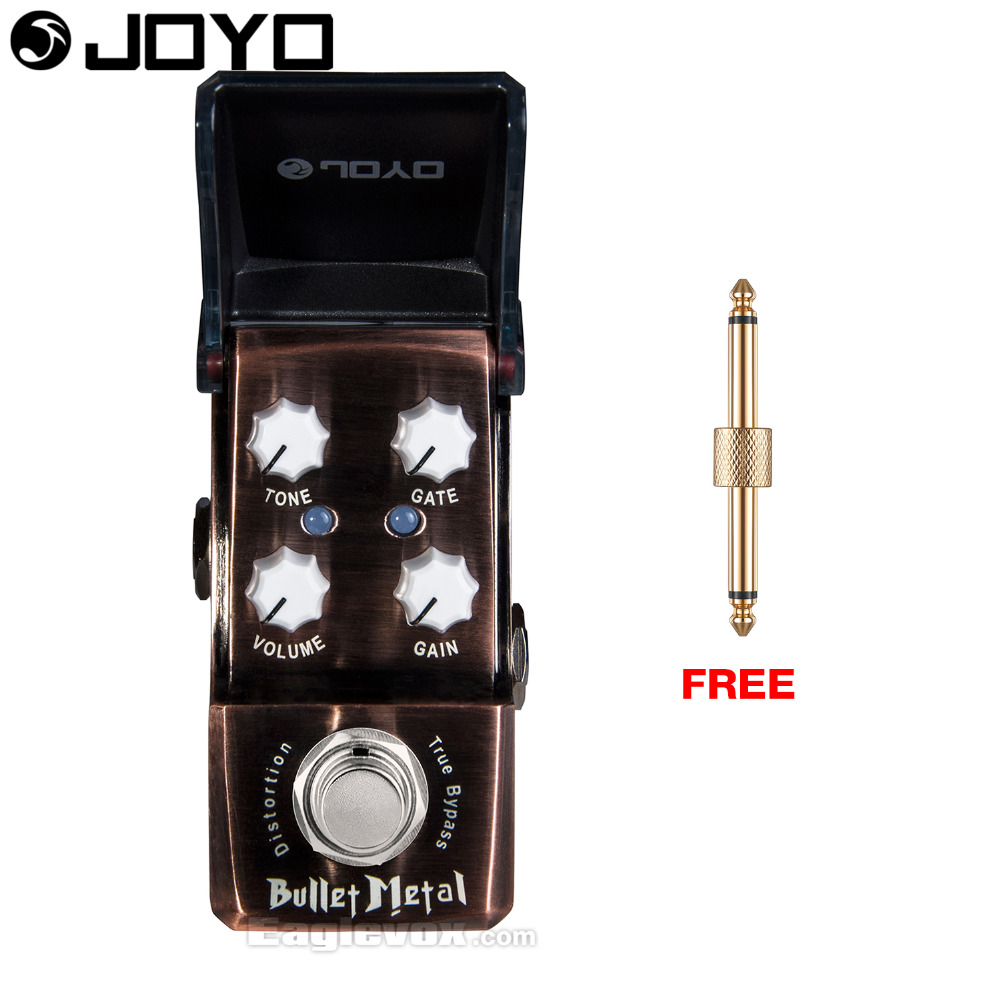 Joyo Ironman Bullet Metal Distortion Guitar Effect Pedal True Bypass JF-321 with Free Connector mooer hustle drive distortion guitar effect pedal micro pedal true bypass effects with free connector and footswitch topper