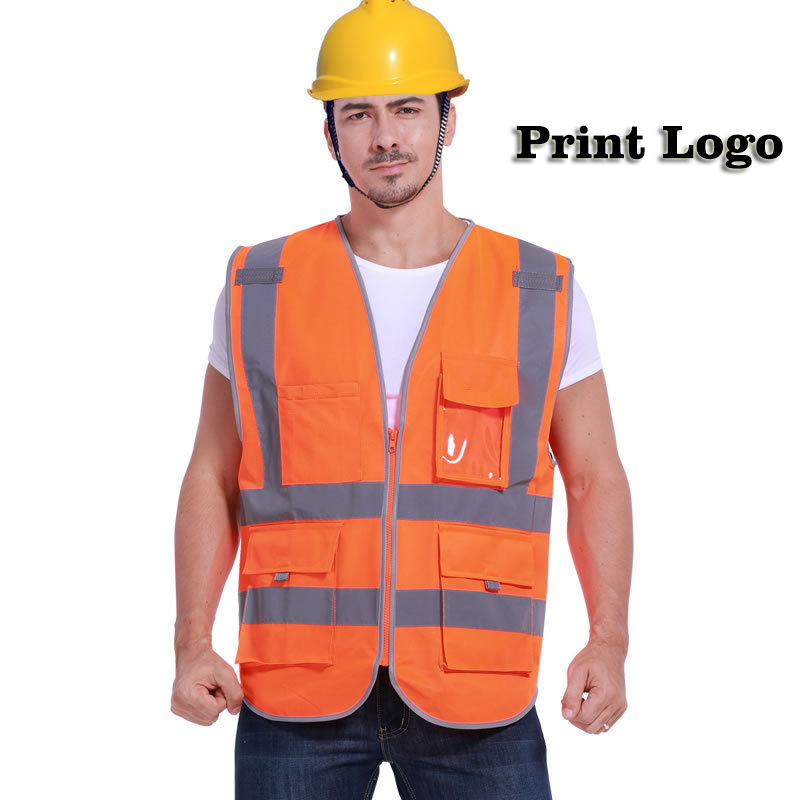 Reflective Safety Vest High Visibility Workwear Vest Multi pockets Working Clothes Outdoor Running Cycling Sport Safety Clothing safety clothing chaleco reflectante 360 degrees high visibility neon belt running cycling sports outdoor clothes reflective vest