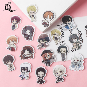 free shipping 1 PCS bungou stray dogs cartoon mix for Clothing Acrylic Badges Kawaii Icons on The Backpack Pin Brooch Badge Z68(China)