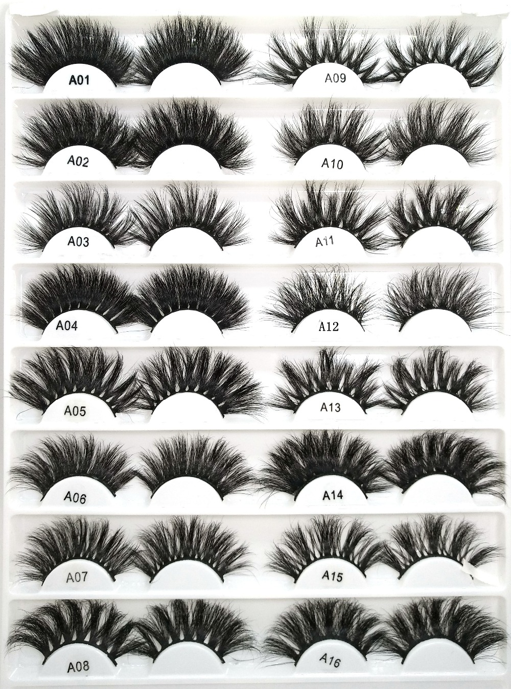 2019 NEW 100 Mink Lashes Eyelashes Length 25mm Criss Cross Strands High Volume Mink Lashes Soft