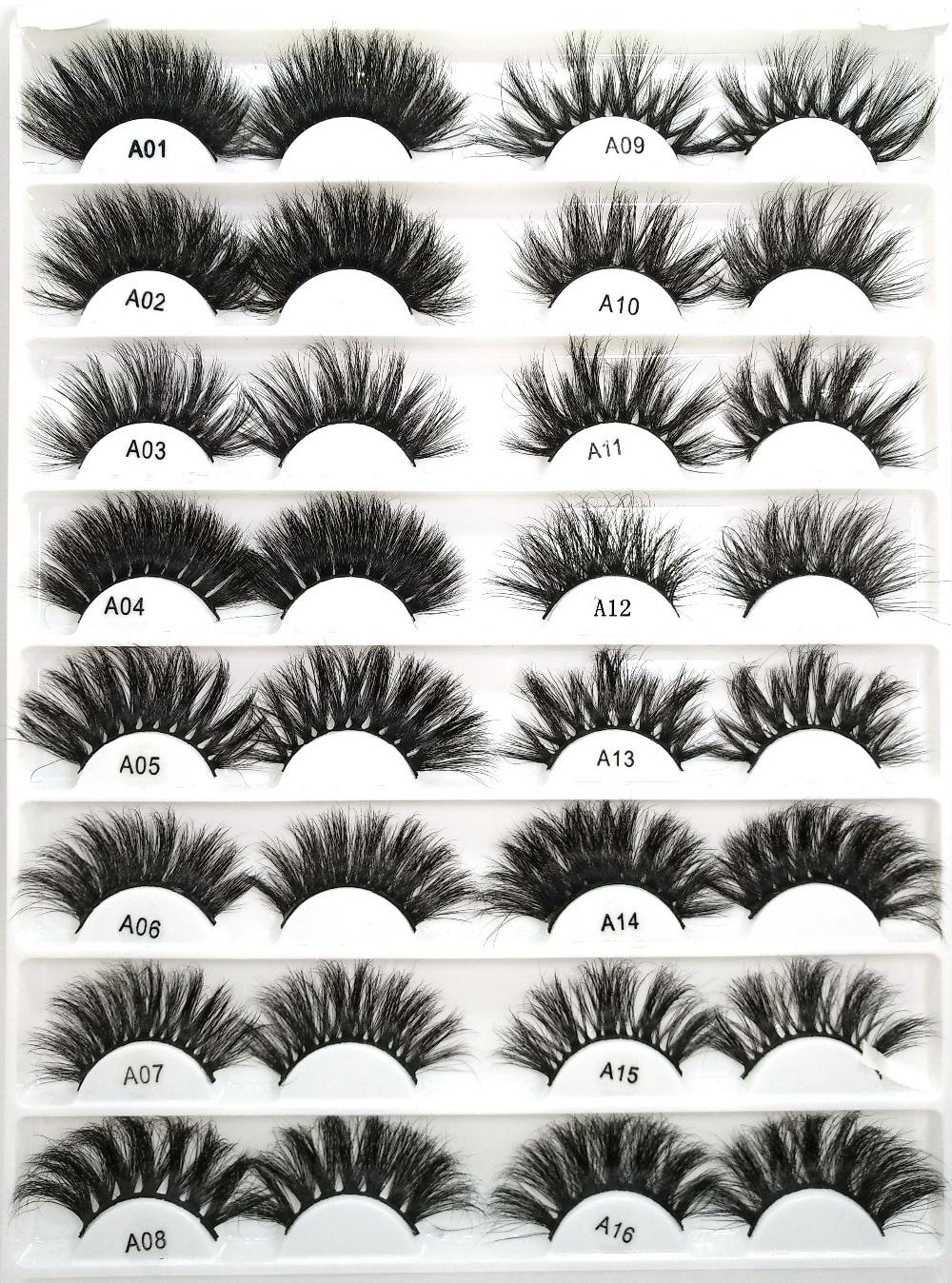 2019 New 100 Mink Lashes Eyelashes Length 25mm Criss