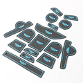 16Pcs Car Styling Slot Interior Accessiors Door Decoration Groove Mat Pad Latex Anti-Slip Cushion For Jeep Renegade 2016